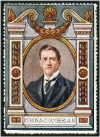 Lot 73:Great Britain: c.1916 multi-coloured label with portrait of Rt Hon A Chamberlain issued for Lord Roberts Memorial Fund.