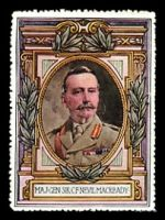 Lot 8:Great Britain: c.1916 multi-coloured label with portrait of Maj-Gen Lord Cheylesmore issued for Lord Roberts Memorial Fund.