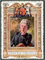 Lot 77:Great Britain: c.1916 multi-coloured label with portrait of Princess Christian issued for Lord Roberts Memorial Fund.