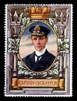 Lot 7:Great Britain: c.1916 multi-coloured label with portrait of Captain Cecil H Fox issued for Lord Roberts Memorial Fund.