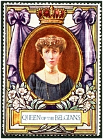 Lot 7:Belgium: c.1916 multi-coloured label with portrait of the Queen of the Belgians issued for Lord Roberts Memorial Fund.