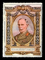 Lot 18:Great Britain: c.1916 multi-coloured label with portrait of Gen Sir Bryan T. Mahon issued for Lord Roberts Memorial Fund.