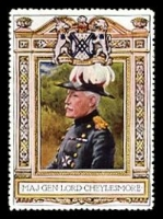 Lot 74:Great Britain: c.1916 multi-coloured label with portrait of Maj-Gen Lord Cheylesmore issued for Lord Roberts Memorial Fund.