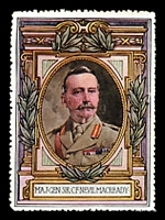 Lot 77:Great Britain: c.1916 multi-coloured label with portrait of Maj-Gen Lord Cheylesmore issued for Lord Roberts Memorial Fund.