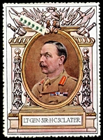 Lot 72:Great Britain: c.1916 multi-coloured label with portrait of Lt Gen Sir H C Sclater issued for Lord Roberts Memorial Fund.