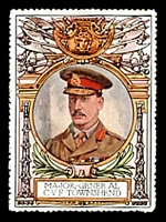 Lot 13:Great Britain: c.1916 multi-coloured label with portrait of Major General C.V.F.Townsend issued for Lord Roberts Memorial Fund.