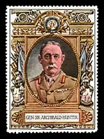 Lot 8:Great Britain: c.1916 multi-coloured label with portrait of Gen Sir Archibald Hunter issued for Lord Roberts Memorial Fund.