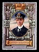 Lot 78:Great Britain: c.1916 multi-coloured label with portrait of Captain Cecil H Fox issued for Lord Roberts Memorial Fund.