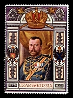 Lot 93:Russia: c.1916 multi-coloured label with portrait of the Czar of Russia issued for Lord Roberts Memorial Fund.