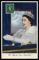 Lot 4062:1953 Maxim card with GB 1½d QEII SG 517 tied by Jersey CDS 4 SP 53.