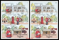 Lot 3179:1980 National Stamp Week BW #879 M/S Optd Sydpex 80 National Stamp Exhibition plated set of 25, Cat $40. (25)