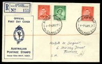 Lot 688 [1 of 2]:APO 1937 1d QE & 2d KGVI tied to Registered illustrated Post Office cover by Adelaide cds 10MY37.