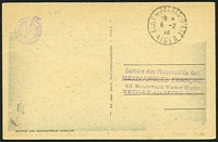 Lot 16534 [2 of 2]:1946 PPC view of the Summer Palace with 15f (SG #206) tied by Palace cds 6 2 46, fine early maxim card.