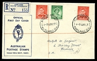 Lot 4246 [1 of 2]:APO 1937 1d QE & 2d KGVI tied to Registered illustrated Post Office cover by Adelaide cds 10MY37.