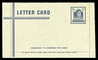 Lot 671:1959-65 5d Dark Blue QEII BW #LC84 unused.