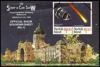 Lot 3:Australia: 1985 Stamp & Coin Show M/S with 