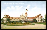 Lot 87:United States Of America: multi-coloured PPC with frontal view 'Hotel Del Monte California'.