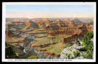 Lot 608:United States of America: Multi coloured PPC 'Northwest from Pima Point, Grand Canyon National Park Arizona'.