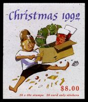 Lot 376:1992 $8 Christmas BW #B189