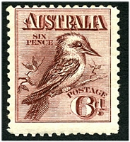 Lot 1096:BW #60 6d Kookaburra, Retail $100.