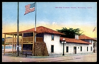 Lot 668:United States of America: multi-coloured PPC 'Old Custom House Monterey Calif'.