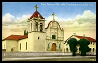 Lot 641:United States of America: multi-coloured PPC 'San Carlos Church Monterey, California'.