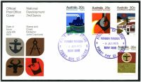 Lot 919:APO 1973 National Development set tied to illustrated FDC by Wagga Wagga cds 6 JUN 1973, unaddressed.