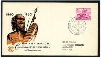 Lot 783:WCS 1960 Northern Territory 5d tied to illustrated FDC by Adelaide cds 21 SEP 60.