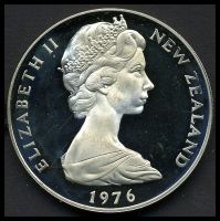 Lot 48 [1 of 2]:New Zealand: 1976 $1 Proof.