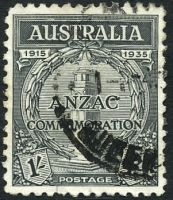 Lot 563:1935 ANZAC BW #165 1/- black.