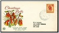 Lot 4147:WCS 1960 1/6d Christmas Bells tied to illustrated FDC by Adelaide cds 3 FEB 60.