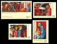 Lot 907:1994 Christmas set. (4)