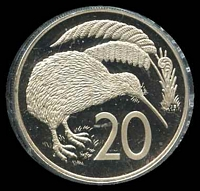 Lot 32 [2 of 2]:New Zealand: 1978 20c Proof.