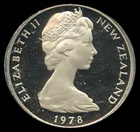 Lot 32 [1 of 2]:New Zealand: 1978 20c Proof.