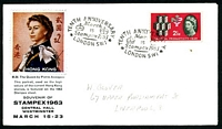 Lot 3588:1963 Stampex illustrated cover with 2½d NPY tied by STAMPEX commemorative cancel March 15 1963.