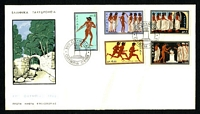Lot 22619 [1 of 2]:1960 Olympics set on illustrated FDC's (2) unaddressed.