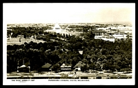 Lot 73:Australia - Victoria: 1940s black & white view 'Panorama looking south Melbourne', Rose real photo.