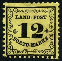 Lot 22441:1862 Mi #3 12Kr black/yellow thin paper, Cat €45
