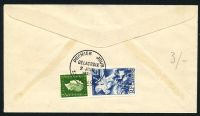 Lot 3568 [2 of 2]:1951 National Relief Fund SG #1114 8f+2f Delacroix tied to illustrated FDC by SAINT MAURICE cds 2 JUIN 1951, unaddressed.