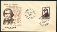Lot 3568 [1 of 2]:1951 National Relief Fund SG #1114 8f+2f Delacroix tied to illustrated FDC by SAINT MAURICE cds 2 JUIN 1951, unaddressed.