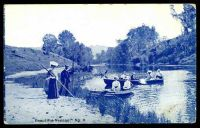 Lot 353:Australia - New South Wales: Blue & white PPC 'Beautiful Nepean' with scene of couples boating.