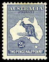 Lot 115:2½d Indigo BW #10 Cat $75
