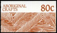 Lot 639:1987 Aboriginal Crafts BW #B151 80c, P15½.