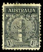 Lot 578:1935 Anzac BW #165 1/- black.