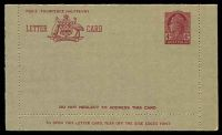 Lot 857:1957-59 4d Claret QEII BW #LC81B admonition inside in claret, unused.