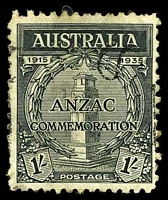 Lot 2948:1935 Anzac BW #165 1/- black.