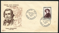 Lot 21286 [1 of 2]:1951 National Relief Fund SG #1114 8f+2f Delacroix tied to illustrated FDC by SAINT MAURICE cds 2 JUIN 1951, unaddressed.