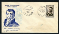 Lot 3742 [1 of 2]:1951 National Relief Fund SG #1116 12f+4f Surcouf, tied to illustrated FDC by SAINT MALO cds 2 JUIN 1951, unaddressed.