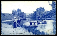 Lot 356:Australia - New South Wales: Blue & white PPC 'Beautiful Nepean' with scene of couples boating.