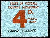 Lot 11516:1941-53 Ninth Series - First Issue IPC #3.1514 4d red on pale blue issued for Pirron Yallock, scarce.